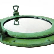 Aluminum Tiffany Green Finish Verdigris Porthole Mirror, Nautical Wall Decor