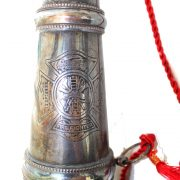Old Firefighter Fire Parade Horn Trumpet or Bugle Aged Bronze Brass Replica