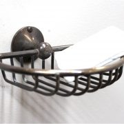 Wall Mount Soap Dish / Sponge Brass Vintage Replica with Antiqued Bronze Finish