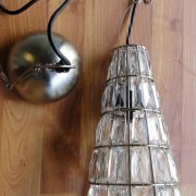 Cone Cut Beveled Glass Pendant Light Fixture Lamp Old Style Crystal Chandelier