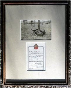 Rare Authentic WWI World War One Canadian Machine Gun Honorable Discharge Art