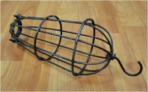 Old Industrial Hanging Factory Mill Cage Light Heavy Iron Thick Steel