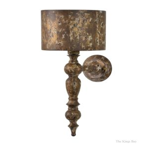 French Country Shabby Chic Table Aged Gold Wall Sconce Light Fixture