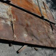 Antique Iron Savannah Shutter Doors Architectural Old Industrial Hurricane Rare