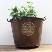 Antique Bread Maker Iron Brass Emblem Bucket New Britain USA