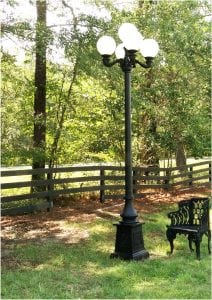 Outdoor 5 Arm 12′ Tall Pole Light Victorian Replica Vintage Commercial or Home