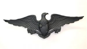 Non Rust Aluminum Medium American Eagle with Shield Ribbon and Spread Wings