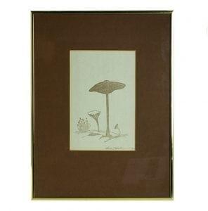 Mushroom Eames Era 70's Artwork Print Signed by Artist Listed ?