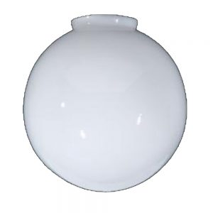 Opal White Glass Globe Ball Shade 10″ diameter and 4″ fitter Replacement or New