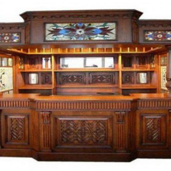 Irish Fitzpatrick Mahogany Tavern Home Pub Bar Tiffany Glass Canopy English & Irish Fitzpatrick Mahogany Tavern Home Pub Bar Tiffany Glass ...