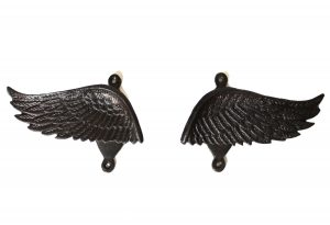 Angel Wings Pair of Curtain Tiebacks or Towel Bathroom Hooks