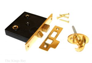 Mortised Lock for Old Vintage Doors Deadbolt and Turn Bolt Knob Included