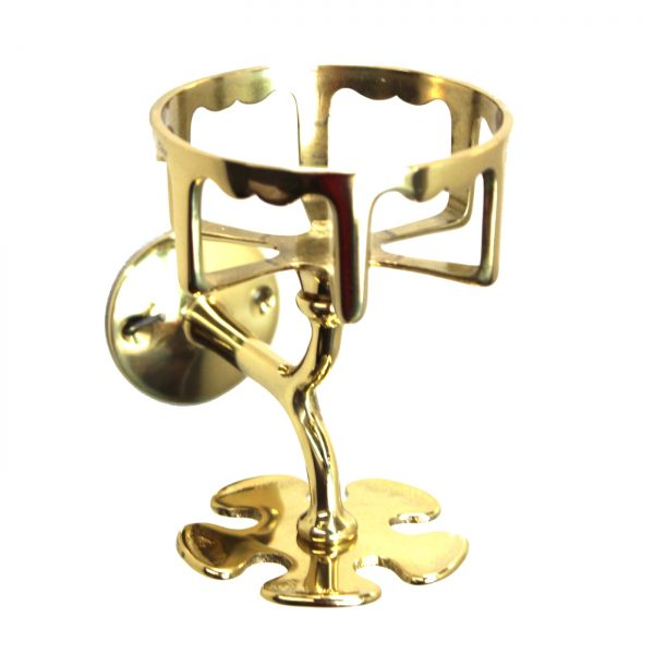 Wall Mount Cup Toothbrush Holder in Cast Solid Brass Vintage Antique Style