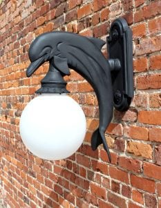 Wall Mount Dolphin Sconce Indoor or Outdoor Light Nautical Sea Fixture