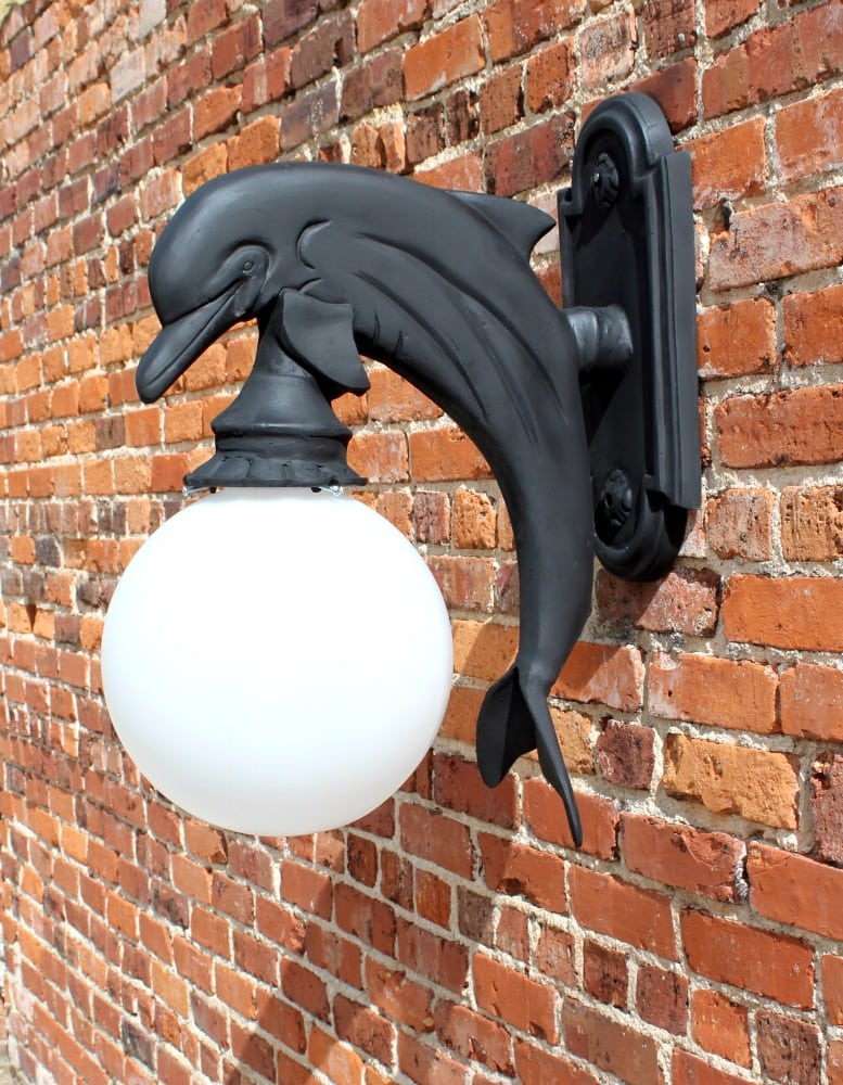 Wall Mount Dolphin Sconce Indoor or Outdoor Light Nautical ...