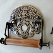 The Crown Toilet Fixture English DARK Aged Brass Toilet Paper Holder Old Style