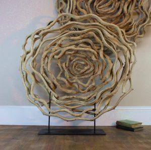 Vine Big Wall Circle Luxe Designer Element Hand Made Round Liana Pedestal Art