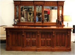 10′ Long Mahogany Front & Back Bar Antique Home Bar Pub Mirrors – The Kings Bay