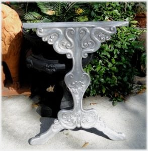 Victorian Style Table Leg Furniture Parts, Vintage Look, Made of Solid Aluminum, Great for Furniture Makers!