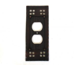 Arts and Crafts or Mission Oil Rubbed Bronze Duplex Outlet Switch Plate