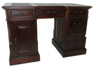 Leather Top Mahogany Childs EXECUTIVE DESK Furniture, CEO Hedge Fund Baby