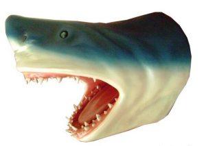 Fun Shark Head Wall Sculpture Art Seafood Restaurant Nautical Beach Jaws