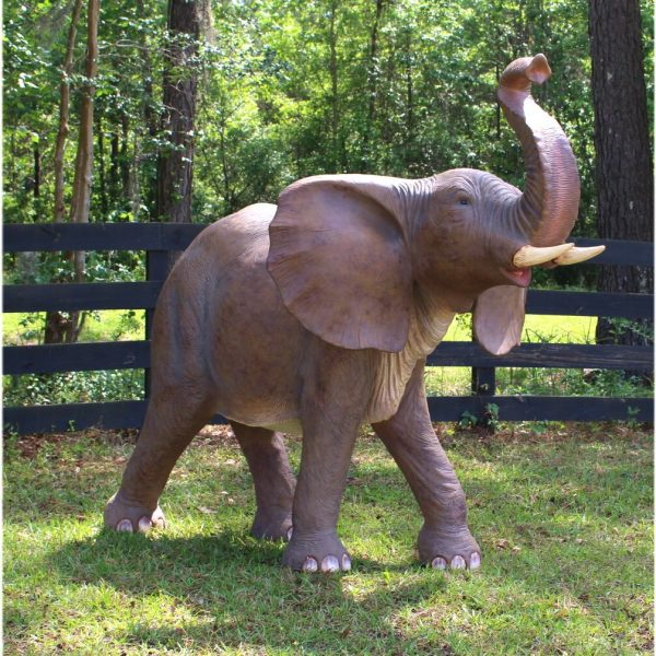 Baby Life Size Elephant Statue Sculpture Jungle Book Dumbo Pachyderm w Tusks