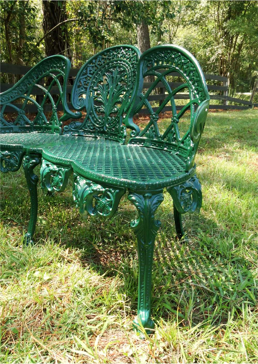 english garden bench. english garden bench furniture victorian old style cane seat metal green paint