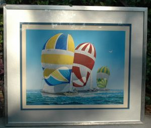 Rare Litho Artist PROOF Peterson Sailing Ships, LISTED Art Works