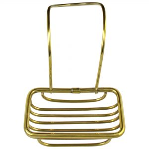 Soap Holder for Over Edge of Clawfoot or any Bath Tub Solid Brass