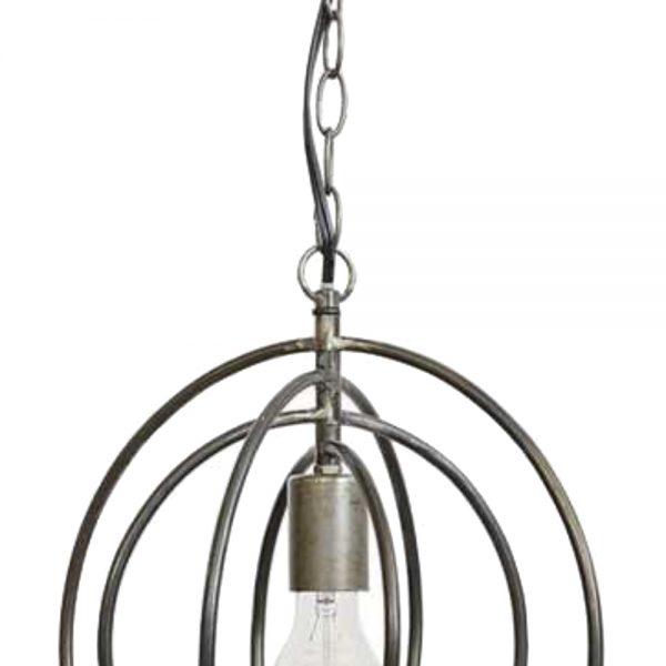 Round Ball Modern Orb Chandelier Pendant Light with Rings