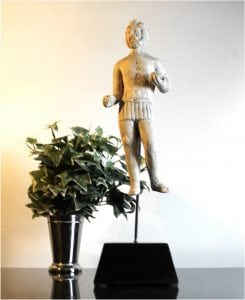 Faux Stone Hercules Folk Art Statue Sculpture, Roman Ruins Figure, CUTE