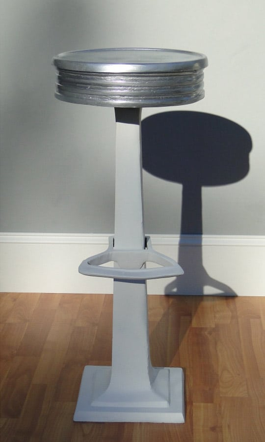 Candy Counter Bar Stool Seating W Foot Rest Aluminum Hot
