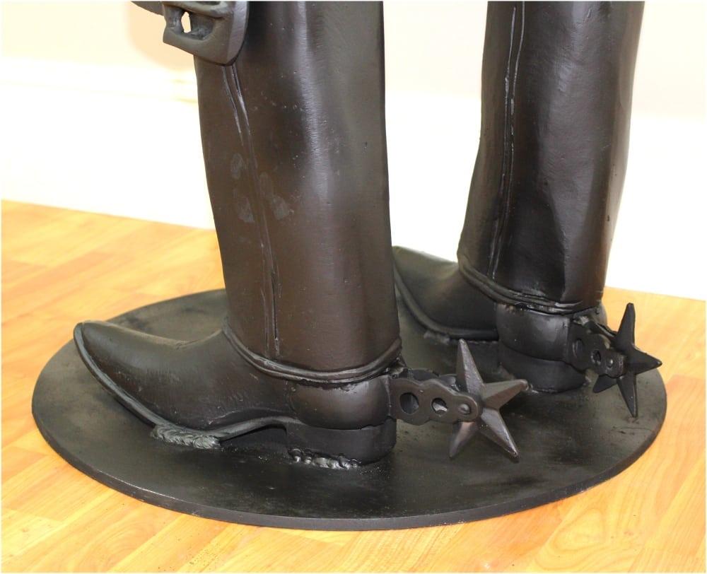 Fun Cowboy Bar Stool W Belt Foot Rest Spurs Boots