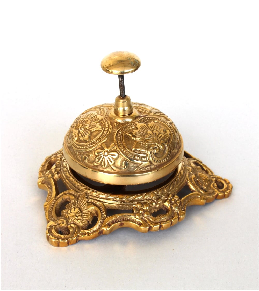 Old Fashioned Antique Solid Brass Front Desk Retail Counter Bell Replica