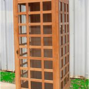 UNFINISHED Wooden Replica English British Telephone Booth Old Style British