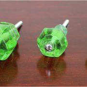 1.5″ GREEN Glass Cabinet Knobs Pulls Vintage Dresser Drawer Hardware