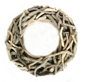 Small Driftwood Wreath Nautical Wood Natural Drift Wood Wall or Table