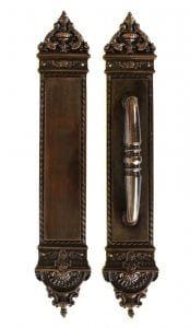 Large Brass with Bronze Finish Push and Pull Commercial Handle Door Hardware