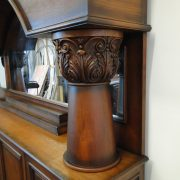 Horseshoe Front and Back Pub Bar Furniture with Wine Rack Mirror Antique Replica
