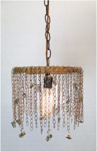Chain Link Pendant Lamp Light w Clips for Photos Pictures Artwork Business Cards Factory