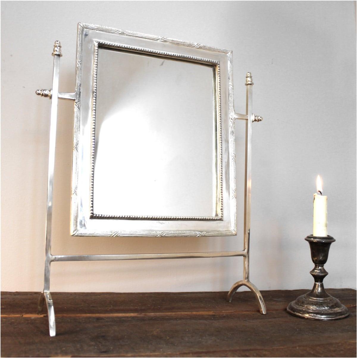 Silver Bedroom Bathroom Mirror Swivel Mount Bamboo Edge SALE! - The ...