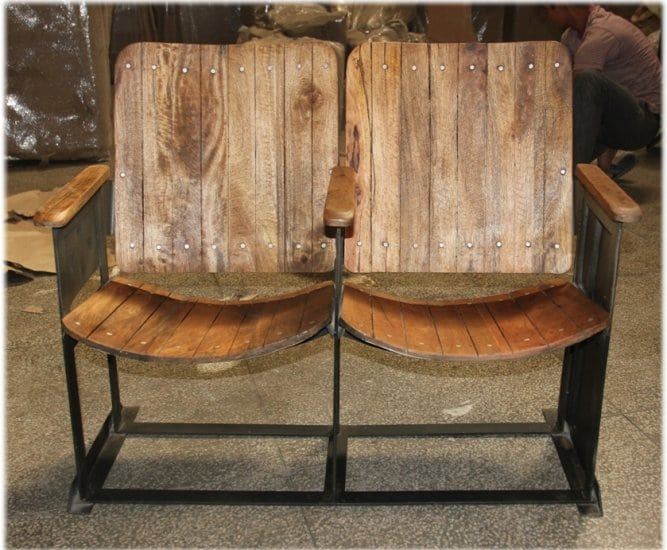 Vintage Man Cave Furniture : Vintage movie theater seats for home man cave old replica