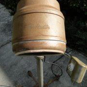Old Retro Nintage Bonnett Hair Dryer, Industrial Steampunk Light Fixture on Wheels