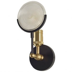 Emporium Gas Light Wall Sconce with Magnify Lens Steampunk Industrial