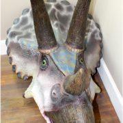 Huge Life Size Triceratops Wall Head Bust Sculpture Statue, Jurassic Park Dinosaur