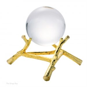Ball Round Orb On Gold Base Modern Contemporary Style at The Kings Bay