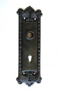 Classic Door BACK PLATE Hardware Solid Brass Vintage Hardware DARKENED AGED Antique RETRO
