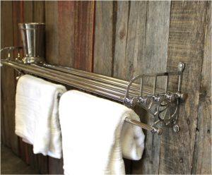 Chrome Train Rack Bathroom Shelf & Towel Rail Antique Replica – The Kings Bay