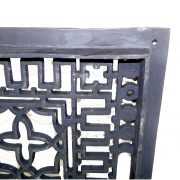 Vintage Old Style Rectangular Floor Grate Replica, Medium Made of Solid Cast Iron